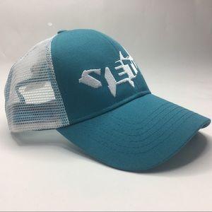 Yeti Tarpon Trucker Hat Teal Mesh Unisex Snapback